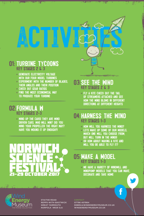 Norwich Science Festival WEM activities