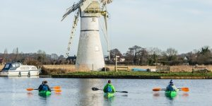 Mill by Kayak | Trips to Thurne Mill by Kayak from the Wind Energy Museum