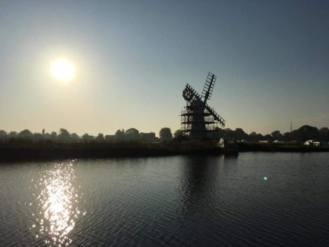 Thurne Mill in the sunset