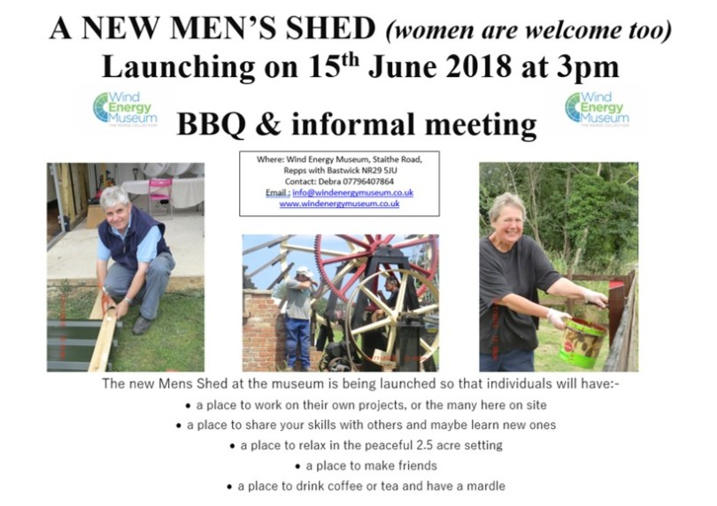 Broadlands Mens Shed Launch | June 15th | 3pm