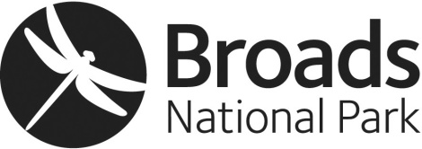 Broads NP logo WHITE 75mm wide